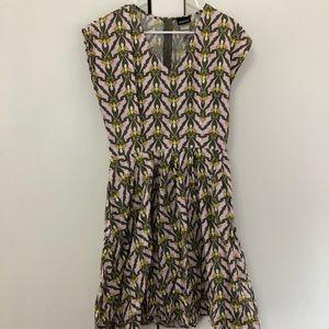 Retrolicious Dress Moth print hot topic ModCloth L